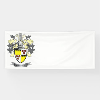 Graham Family Crest Coat of Arms Banner