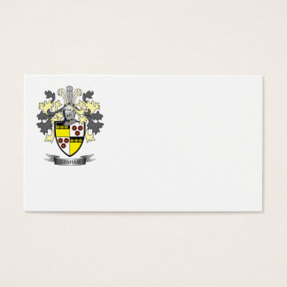 Graham Family Crest Coat of Arms Business Card