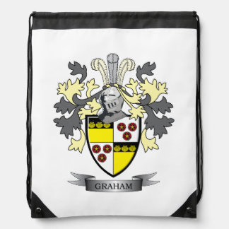 Graham Family Crest Coat of Arms Drawstring Backpack