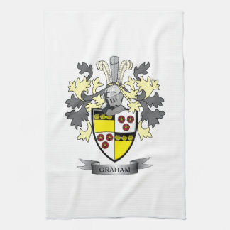 Graham Family Crest Coat of Arms Hand Towel