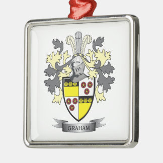 Graham Family Crest Coat of Arms Metal Ornament