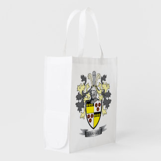 Graham Family Crest Coat of Arms Reusable Grocery Bag