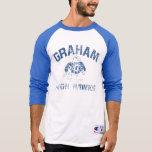 Graham High Hawks Men's Raglan Tee Shirt
