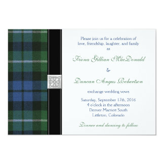 Graham of Montrose Ancient Tartan Celtic Wedding Card