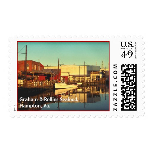 Graham & Rollins Seafood, Hampt... Postage Stamp