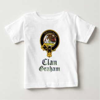 Graham scottish crest and tartan clan name baby T-Shirt