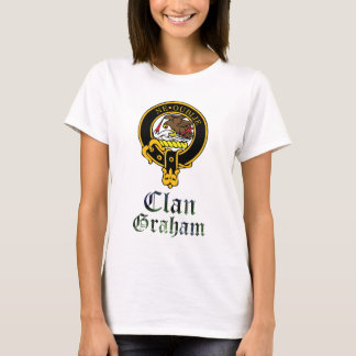 Graham scottish crest and tartan clan name T-Shirt