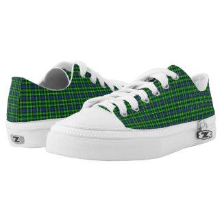 Graham Tartain Plaid Pattern Low-Top Sneakers