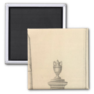 Graham's Marble and Granite Monument Works 2 Inch Square Magnet