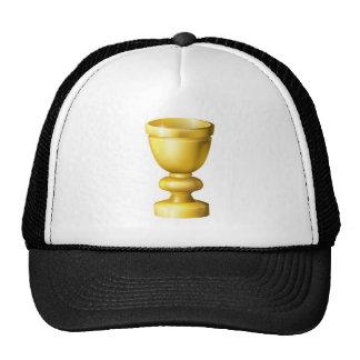 Grail o cubilete de la taza de oro gorros
