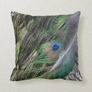 Grail verde del Peafowl Almohada