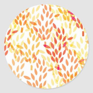 grain and wheat harvest pattern classic round sticker