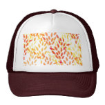 grain and wheat harvest pattern mesh hat