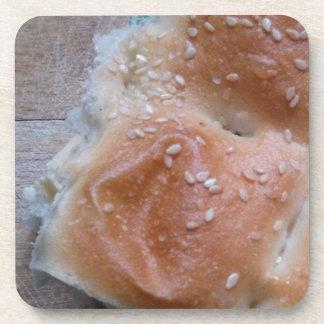 Grain Bread on Wooden Shelf, Healthy Food, Rolls Coaster