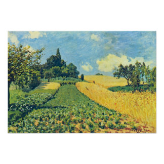 Grain fields on the hills of Argenteuil by Sisley Print