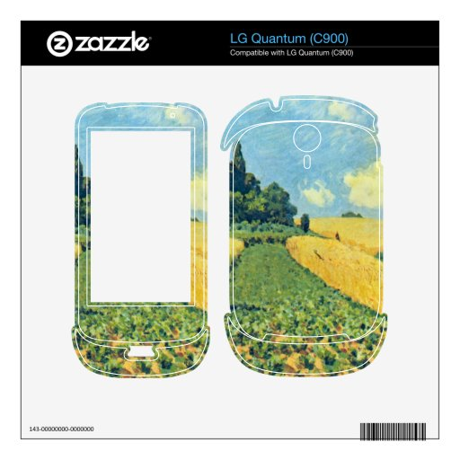 Grain fields on the hills of Argenteuil by Sisley Skin For LG Quantum