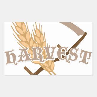 Grain Harvest Rectangular Sticker