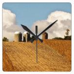 Grain Harvest Wallclocks