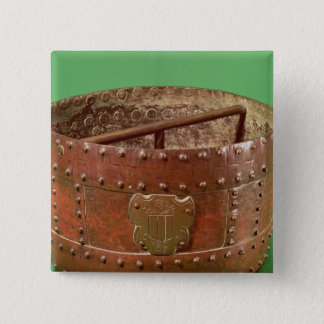 Grain measure with the Senlis coat of arms, 1630 Pinback Button
