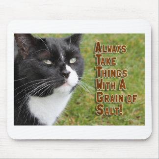 Grain of Salt Cat Advice Mouse Pad