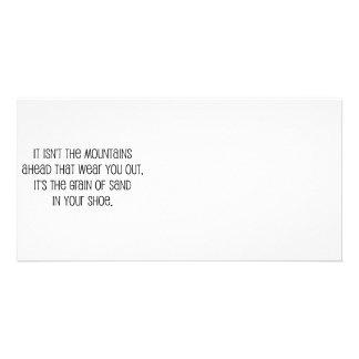 """Grain of sand"" quote design Photo Card"