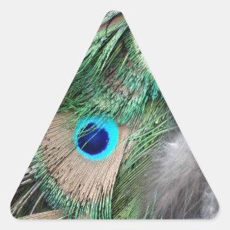 Grain Wheat Green Peacock Eyes Triangle Sticker
