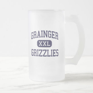 Grainger - Grizzlies - High - Rutledge Tennessee Frosted Glass Beer Mug