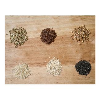 Grains and seeds postcard
