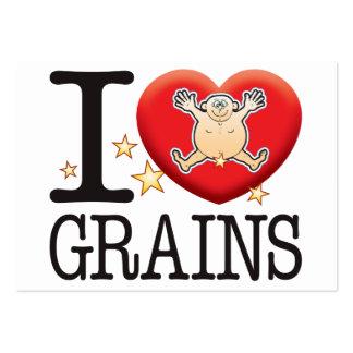 Grains Love Man Large Business Card