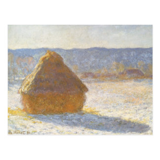 Grainstack in Morning by Claude Monet, Vintage Art Postcard