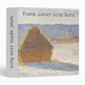 Grainstack in Morning, Snow Effect by Claude Monet Vinyl Binders