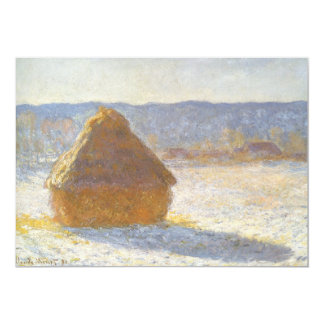 Grainstack in Morning, Snow Effect by Claude Monet Card