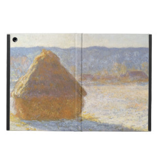 Grainstack in Morning, Snow Effect by Claude Monet Cover For iPad Air