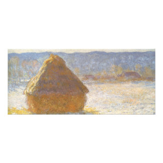 Grainstack in Morning, Snow Effect by Claude Monet Rack Card