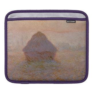 Grainstack, Sun en la niebla, 1891 (aceite en lona Mangas De iPad