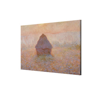 Grainstack, Sun in the Mist, 1891 (oil on canvas) Canvas Print