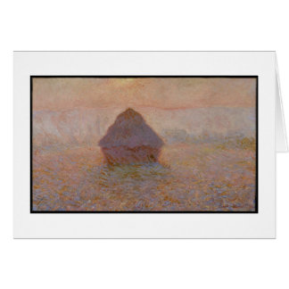 Grainstack, Sun in the Mist, 1891 (oil on canvas) Greeting Card