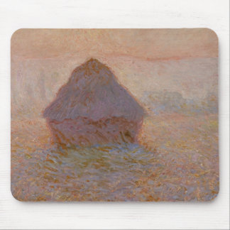 Grainstack, Sun in the Mist, 1891 (oil on canvas) Mouse Pad