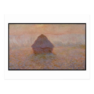 Grainstack, Sun in the Mist, 1891 (oil on canvas) Postcard