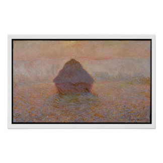 Grainstack, Sun in the Mist, 1891 (oil on canvas) Poster