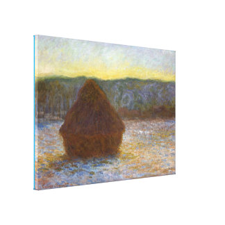 Grainstack Thaw at Sunset Canvas Print