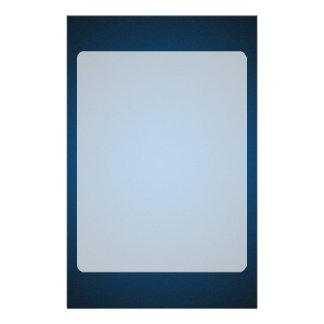 Grainy Blue-Black Vignette Stationery