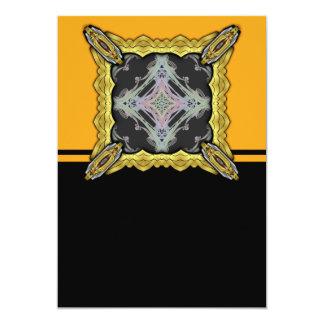 Grainy Elegant Design Inverted 5x7 Paper Invitation Card