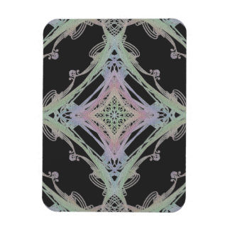 Grainy Elegant Design Inverted Rectangle Magnet