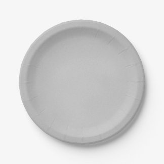 Grainy Gray Artsy Texture 7 Inch Paper Plate