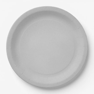Grainy Gray Artsy Texture 9 Inch Paper Plate