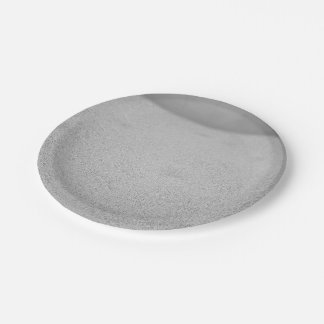 Grainy Grey Backdrop 7 Inch Paper Plate
