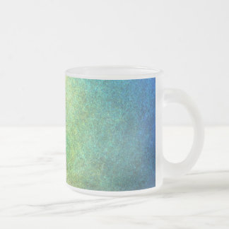 Grainy Rainbow Abstract Frosted Glass Coffee Mug