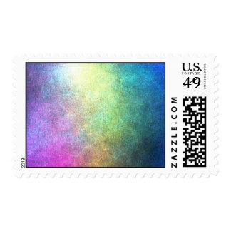 Grainy Rainbow Abstract Postage Stamp