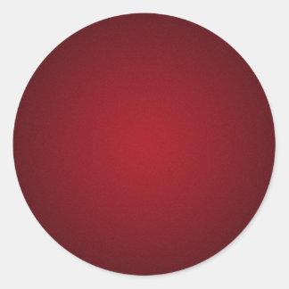 Grainy Red-Black Vignette Classic Round Sticker